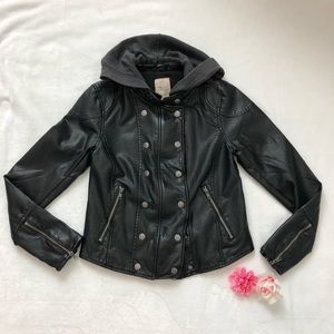 NWOT Free People Vegan Leather Jacket Sz Small